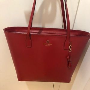 Kate Spade red tote - used 1x